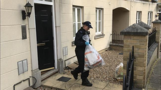 Police raid: A number of properties in Braintree have been targeted this morning