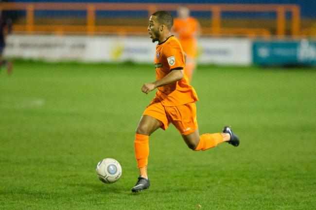 Roman Michael-Percil during his previous spell with Braintree Town. Picture: Chris Jarvis