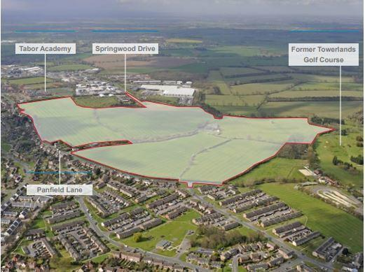 825 homes will be built off Panfield Lane, Braintree