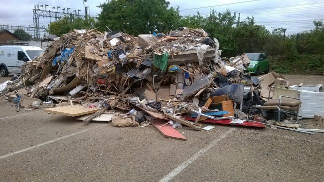 DUMPED: About 10 tonnes of rubbish was dumped at Bairds Malt.