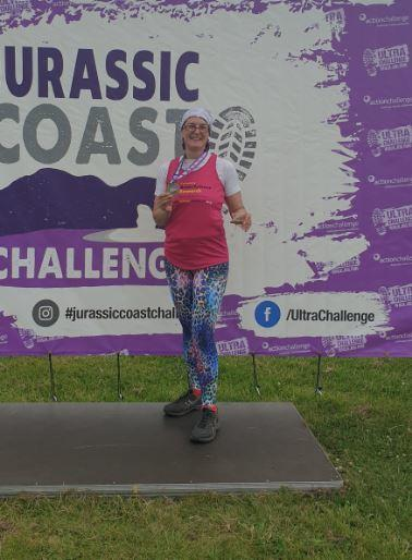 Epic challenge: Sian Trigwell after her first run in a planned 300km challenge to raise money for the Brain Tumour Research charity