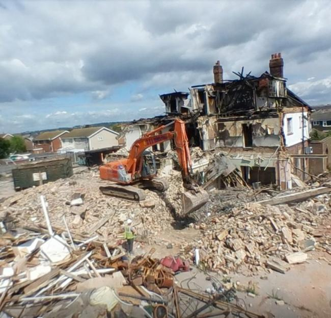Demolition - the site has been bulldozed despite asbestos concerns                                                  Picture: Richard Windell