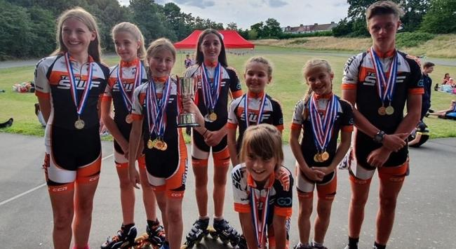 SUCCESS: The South Woodham Ferrers speed skaters took home 17 medals at the Speed Skating Outdoor British ChampionshipsPicture: Danielle Bennett