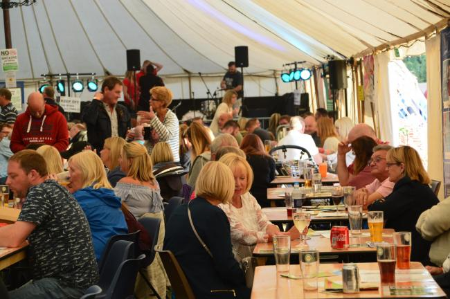 BEER TENT: Last year's beer festival brought a friendly atmosphere to the sports grounds. Picture: Witham Beer Festival.