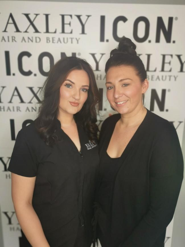 TOP TALENT: Yaxley salon boss Phillippa (right) with employee Hope (left)