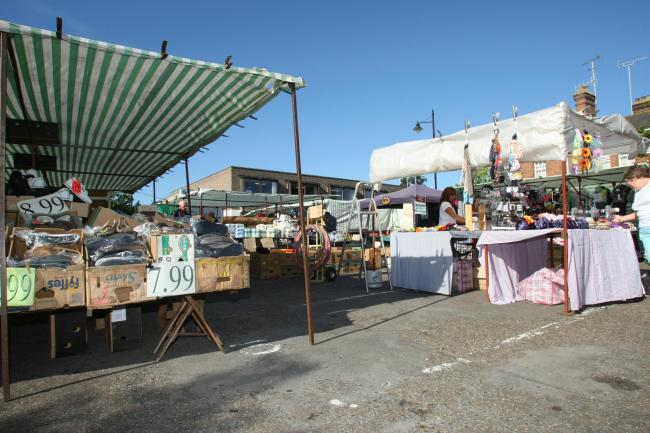 An existing street market in Witham. Photo: Louise Smith.