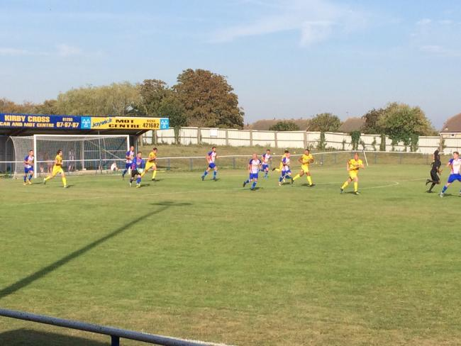 FC Clacton hosted Witham Town in the FA Cup preliminary round at the Rush Green Bowl.