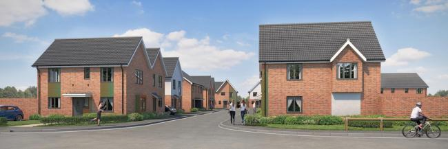 NEW DEVELOPMENT: An artist's impression of what the housing in Braintree will look like