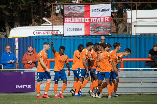 Ade Cole scored a penalty for Braintree. Picture: Chris Jarvis