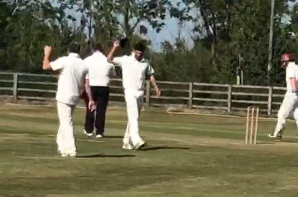 Legend Alastair Cook is still a competitive animal... even in village cricket!