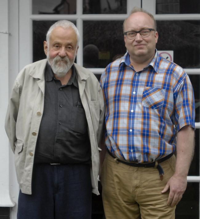 Festival patron Mike Leigh and founder Neil McGlone