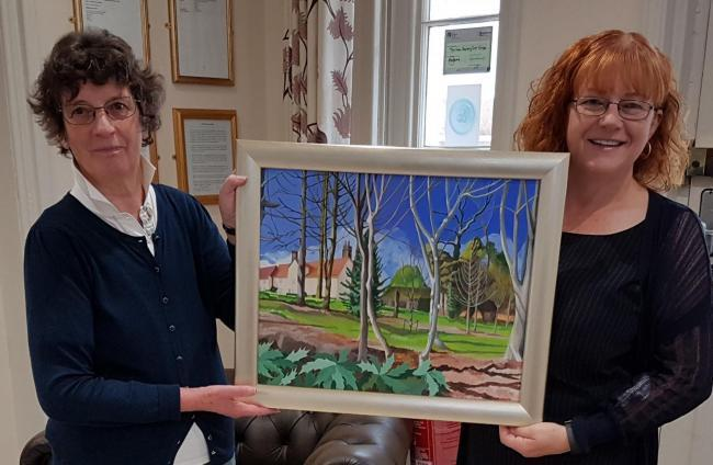 Denise Coles has won awards for her artwork, including this painting of the New Deanery Care Home in Bocking