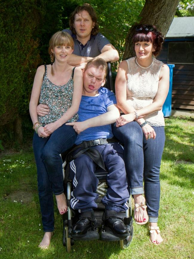 Family time: Nicola Davis (right) with siblings Neil Lawrence (top), Katie Joyce (left) and Paul Lawrence (centre)