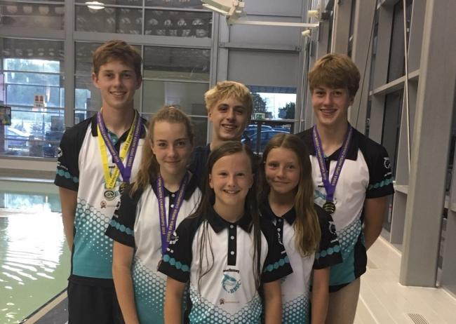 Katheryn Edwards, Sophie Ball, Rosie Henn, Charles Rennie, Samuel Rennie and Matthew Pack made Braintree and Bocking club history by competing in the East Region Open Water Championships