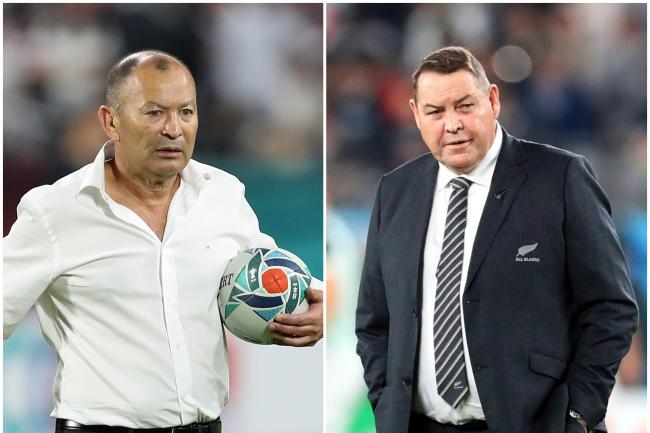 Eddie Jones and Steve Hansen face each other in the World Cup semi-finals this weekend