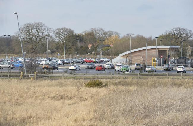 A12 stadium junction..Park and Ride.