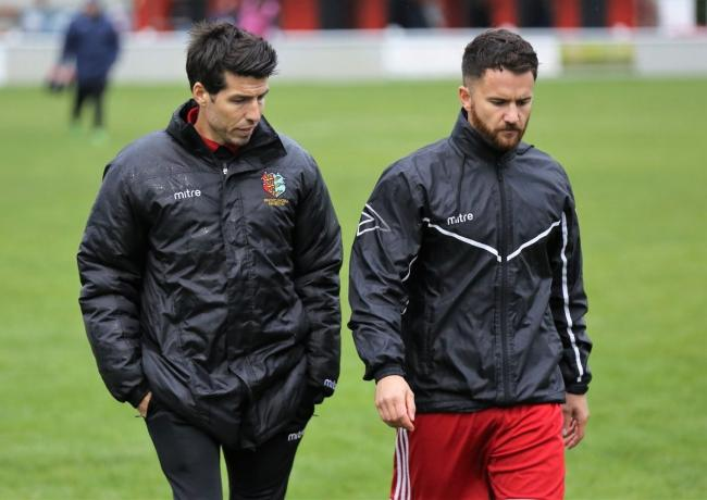Kem Izzet (left) and assistant manager Pip Boyland Picture: Neil Payne