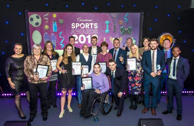 WINNERS: Last years winners with Olympic gymnast Max Whitlock