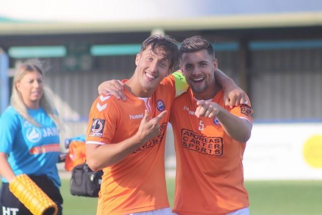 Michael Clark (on right with Braintree team-mate Jake Hutchings). Picture: Alan Stuckey