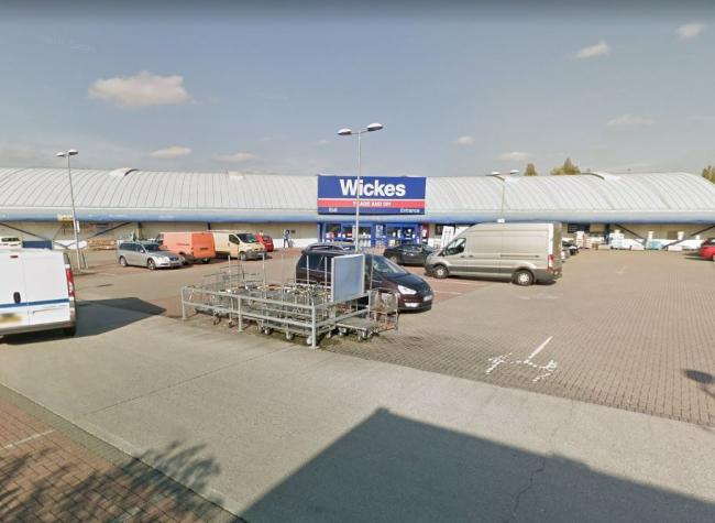 The warehouse is currently occupied by Wickes