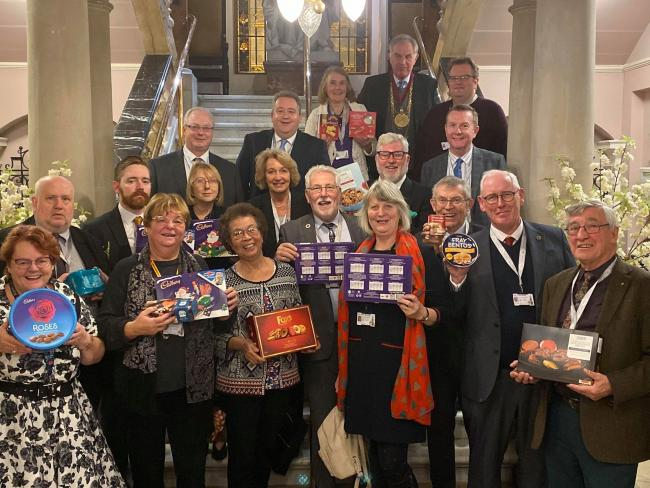 Colchester councillors donated to the foodbank