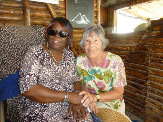 CHARITY WORK: Sue Sandle (right) and Marjorie Lambert, who played a big part in Amy Winehouse's life in St Lucia