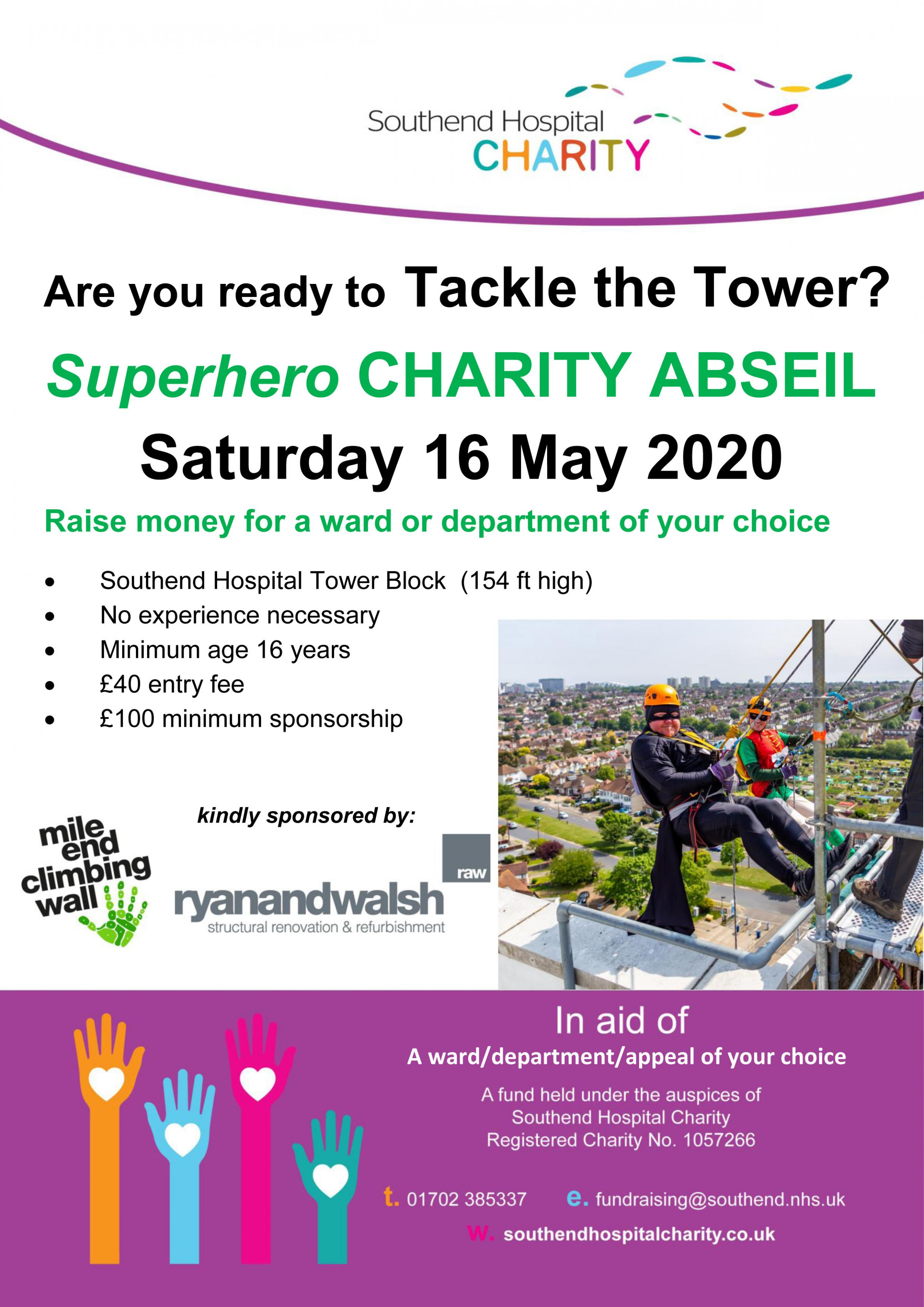 Superhero Charity Abseil