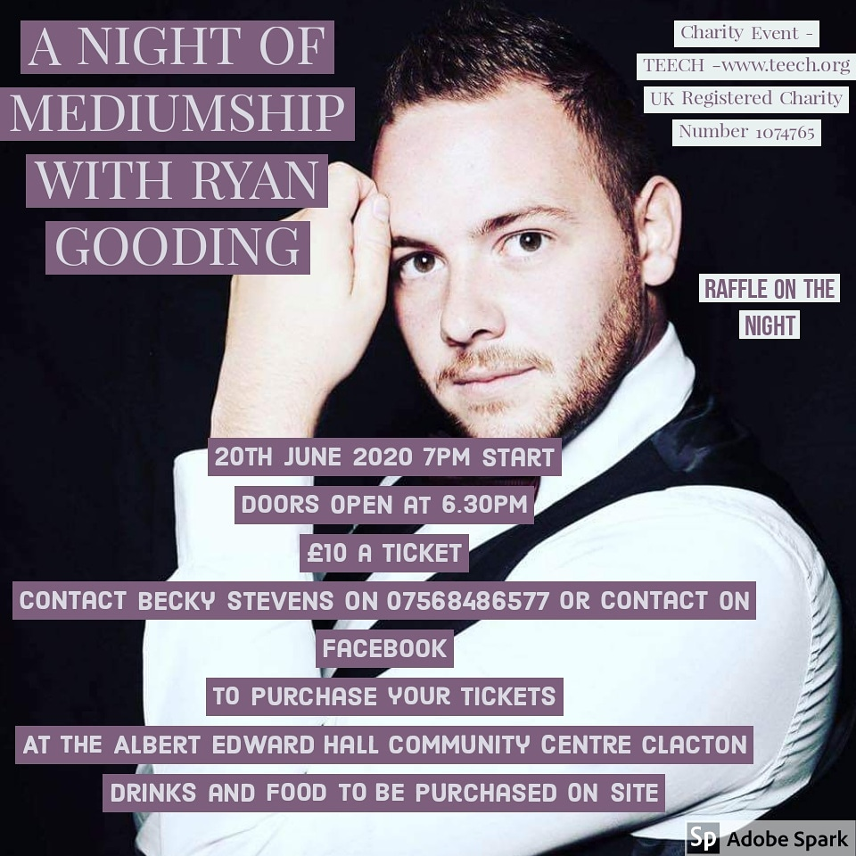 A night off mediumship with Ryan Gooding charity night