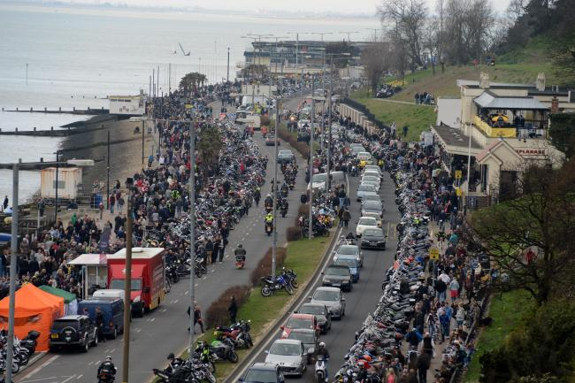 Packed - thousands of bikers and visitors at a previous event