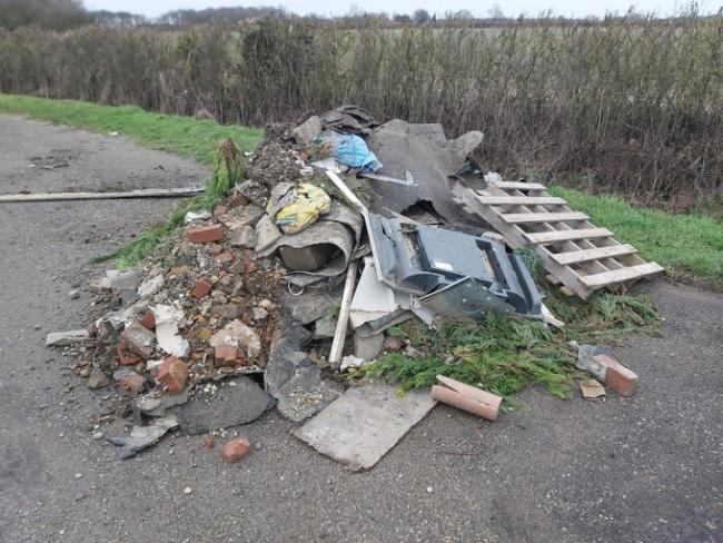 Large fly-tip found in Pattiswick on Friday, February 21. Photo Essex Police Rural Engagement team