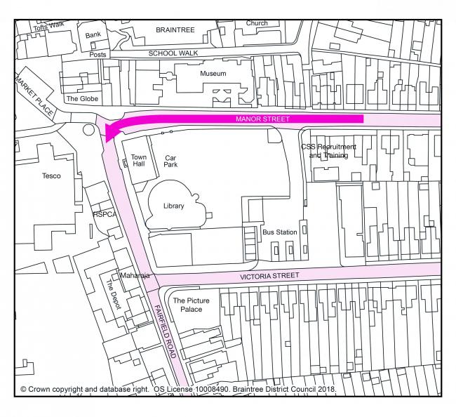 New one-way system to come into effect in Braintree town centre on Monday, March 2