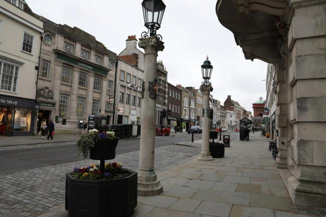Colchester town centre during coronavirus