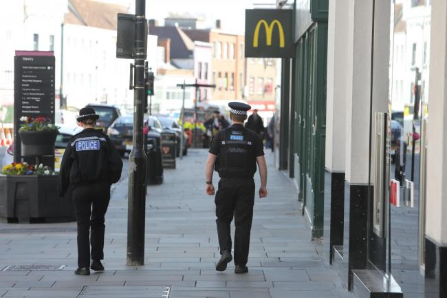 Police in Colchester High Street