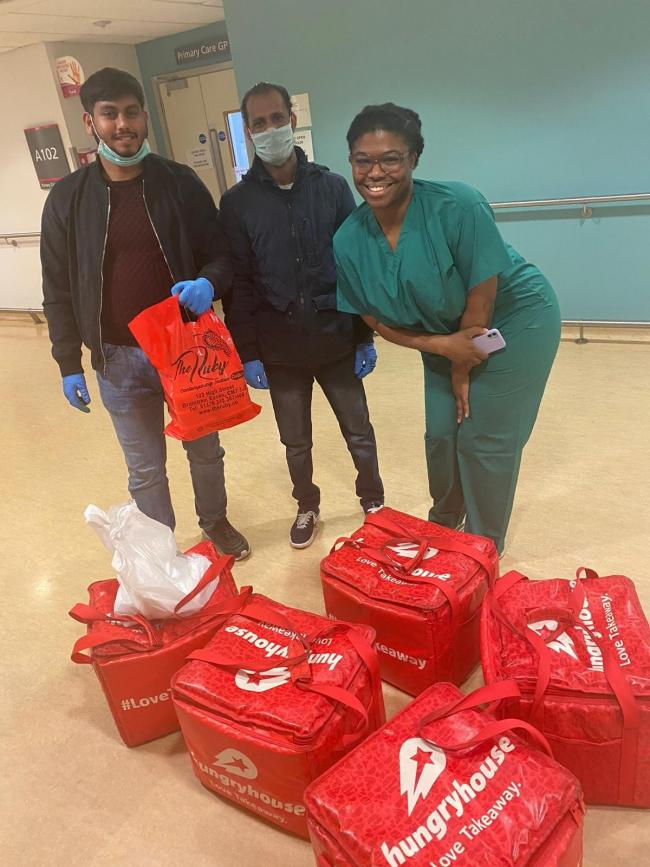 Mohim Uddin delivered 76 meals to NHS staff at Broomfield Hospital