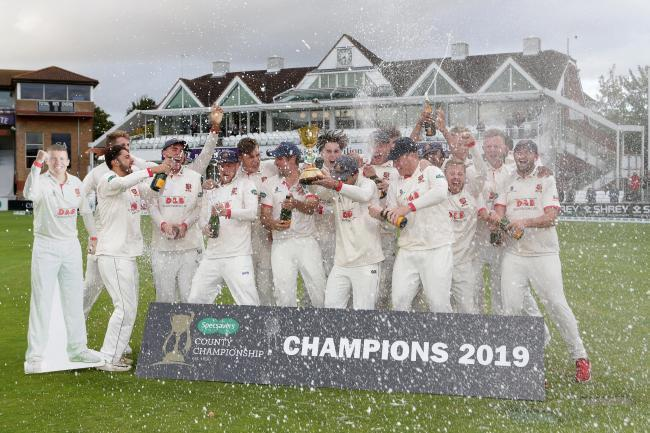 Success - Essex won the County Championship last summer