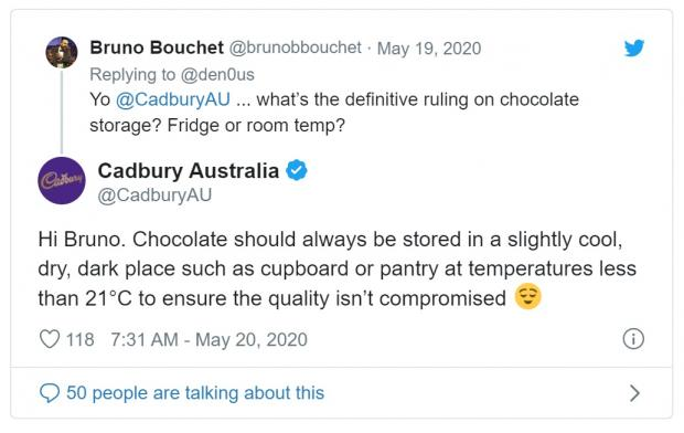 Braintree and Witham Times: DEBATE: Cadbury Australia settled the long-running debate. Picture: Twitter