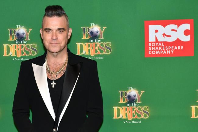 Robbie Williams attending the opening night of The Boy In The Dress