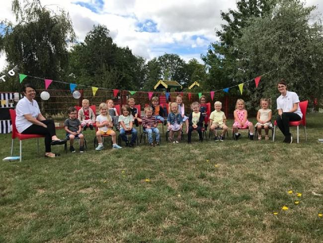 Special send-off - the children at Little Peeps Nursey