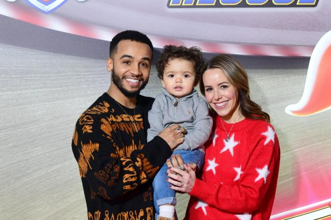 Aston Merrygold and Sarah with their son Grayson