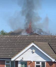 Braintree and Witham Times: Scene - the fire could be send from across Pitsea