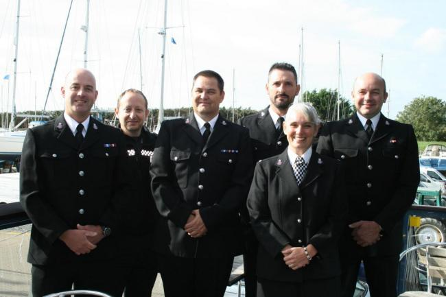 Essex police officers at the Marine Unit 70th anniversary