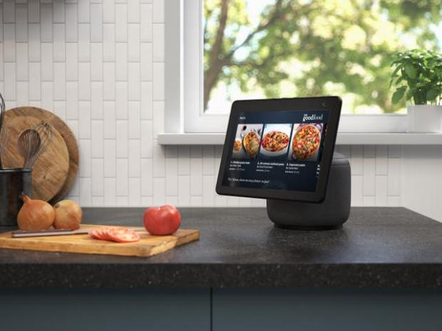 Braintree and Witham Times: The new Echo Show screen can swivel to follow the user. Picture: Amazon