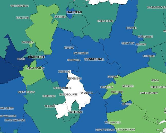 Three areas in Braintree district removed from coronavirus hotspots map