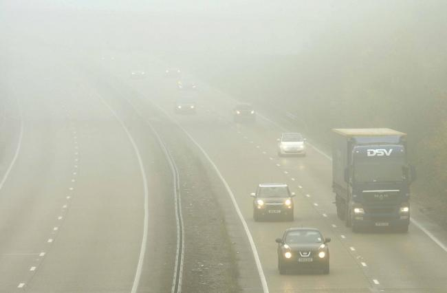 Yellow weather warning in place for fog across Essex