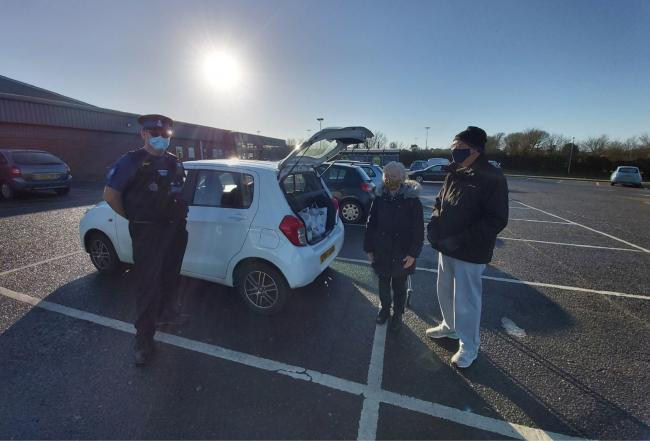 PUBLIC ENGAGEMENT: An officer from the Tendring Community Policing Team with shoppers Picture: Essex Police Tendring