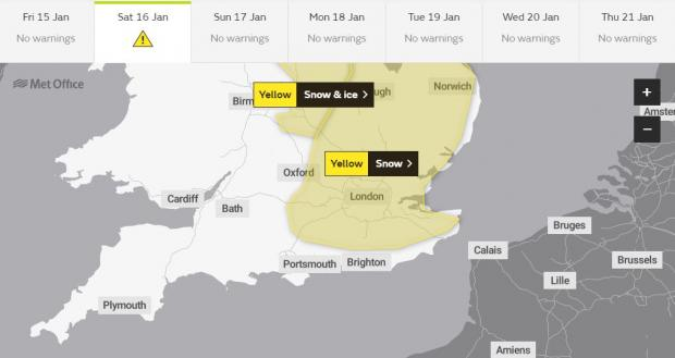 Braintree and Witham Times: The Met Office has issued a weather warning for tomorrow