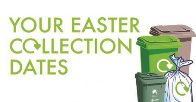 Bin collection days to change over Easter weekend