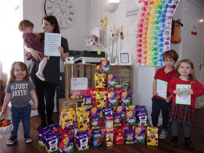 Kind-hearted little ones spread some Easter cheer at residential care home