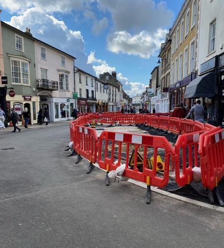 The multi-million pedestrianisation scheme is part of a major investment in the town centre