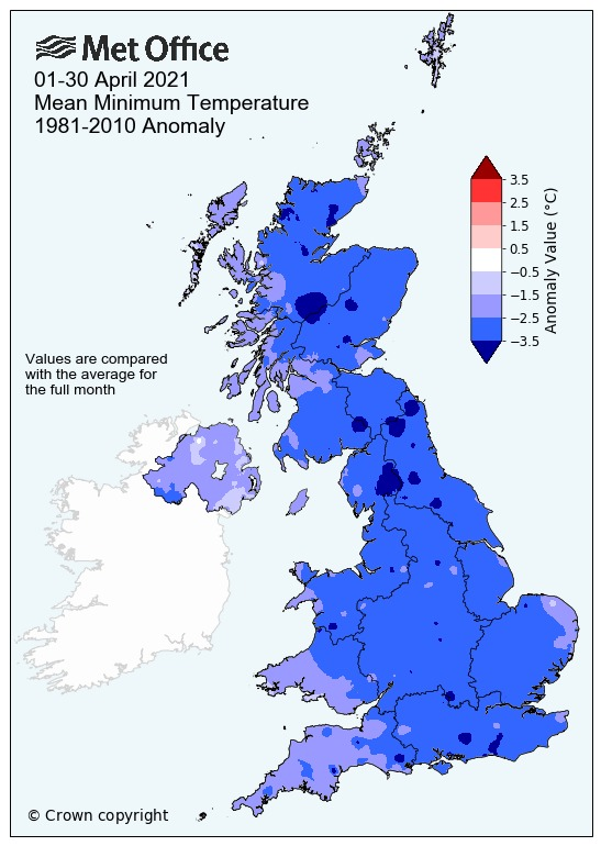 Met Office confirms it has been the coldest April for almost 100 years. Picture: Met Office
